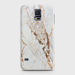 SAMSUNG GALAXY S5 White & Gold Marble Case