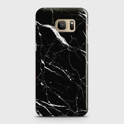 Samsung Galaxy Note 7 Trendy Black Marble design Case