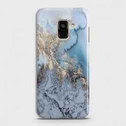 SAMSUNG GALAXY A6 (2018) Golden Blue Marble Case