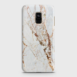 SAMSUNG GALAXY A6 (2018) White & Gold Marble Case