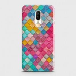 ONEPLUS 6 Colorful Mermaid Scales Case