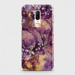 ONEPLUS 6 Purple Agate Marble Case