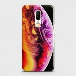ONEPLUS 6 Texture Colorful Moon Case