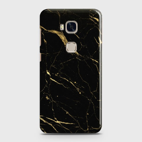 HUAWEI HONOR 5X Classic Golden Black Marble Case