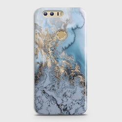 HUAWEI HONOR 8 Golden Blue Marble Case