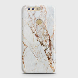 HUAWEI HONOR 8 White & Gold Marble Case