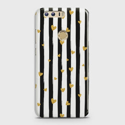 HUAWEI HONOR 8 Glitter Heart Stripes Case