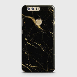 HUAWEI HONOR 8 Classic Golden Black Marble Case