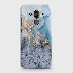 HUAWEI MATE 10 PRO Golden Blue Marble Case