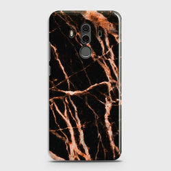 HUAWEI MATE 10 PRO Chic Rose Gold Veins On Black Case