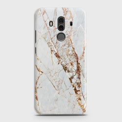 HUAWEI MATE 10 PRO White & Gold Marble Case