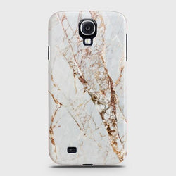 SAMSUNG GALAXY S4 White & Gold Marble Case