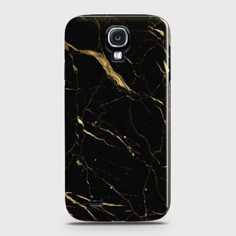 SAMSUNG GALAXY S4 Classic Golden Black Marble Case