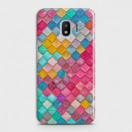 SAMSUNG GALAXY J4 Colorful Mermaid Scales Case
