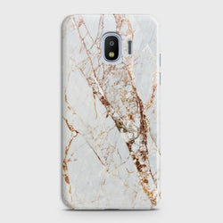 SAMSUNG GALAXY J4 White & Gold Marble Case