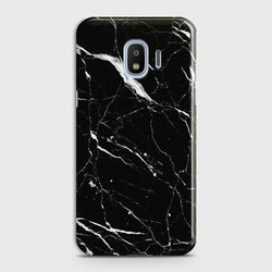 Samsung Galaxy J4 Trendy Black Marble design Case