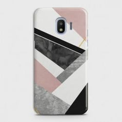 SAMSUNG GALAXY J4 Geometric Luxe Marble Case