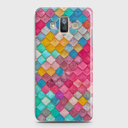 SAMSUNG GALAXY J7 DUO (2018) Colorful Mermaid Scales Case