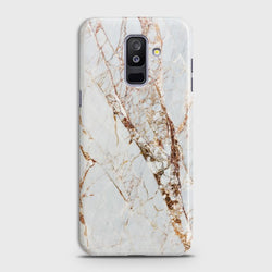 SAMSUNG GALAXY J8 2018 White & Gold Marble Case