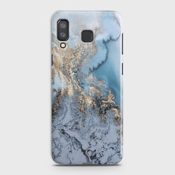 SAMSUNG GALAXY A8 STAR(A9 STAR) Golden Blue Marble Case