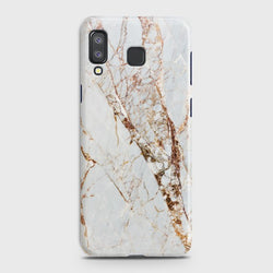 SAMSUNG GALAXY A8 STAR(A9 STAR) White & Gold Marble Case