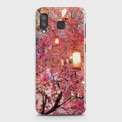 SAMSUNG GALAXY A8 STAR(A9 STAR) Pink blossoms Lanterns Case