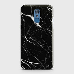 LG Q7 Trendy Black Marble Case