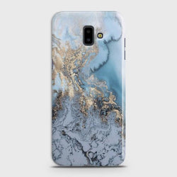 SAMSUNG GALAXY J6 PLUS Golden Blue Marble Case