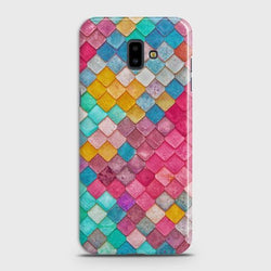 SAMSUNG GALAXY J6 PLUS Colorful Mermaid Scales Case