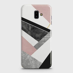 SAMSUNG GALAXY J6 PLUS Geometric Luxe Marble Case