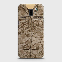 SAMSUNG GALAXY J6 PLUS Army Costume With Custom Name Case