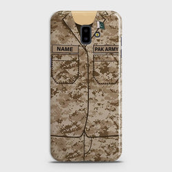 SAMSUNG GALAXY J6 PRIME Army Costume WIth Custom Name Case
