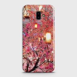 SAMSUNG GALAXY J6 PRIME Pink blossoms Lanterns Case