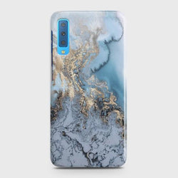 SAMSUNG GALAXY A7 (2018) Golden Blue Marble Case