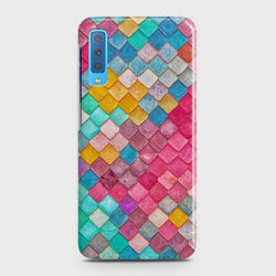 SAMSUNG GALAXY A7 (2018) Colorful Mermaid Scales Case