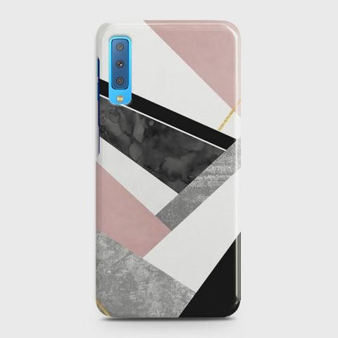 SAMSUNG GALAXY A7 (2018) Geometric Luxe Marble Case
