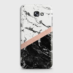 SAMSUNG GALAXY J4 PLUS (2018) Black & White Marble With Chic RoseGold Case