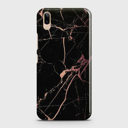 Vivo V11 Pro Black Rose Gold Marble Case