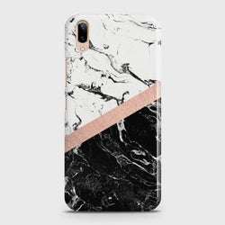 Vivo V11 Pro Black & White Marble With Chic RoseGold Case