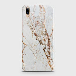 Vivo V11 Pro White & Gold Marble Case