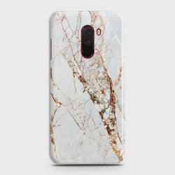 XIAOMI POCOPHONE F1 White & Gold Marble Case