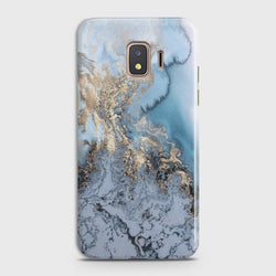 SAMSUNG GALAXY J2 CORE Golden Blue Marble Case