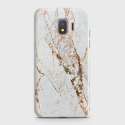 SAMSUNG GALAXY J2 CORE White & Gold Marble Case