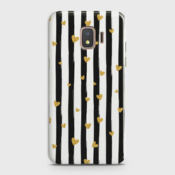 SAMSUNG GALAXY J2 CORE Glitter Heart Stripes Case