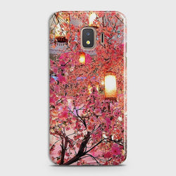 SAMSUNG GALAXY J2 CORE Pink blossoms Lanterns Case
