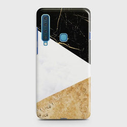 SAMSUNG GALAXY A9 (2018) Gold Marble collage Case