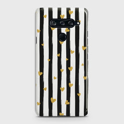 LG V40 Glitter Heart Stripes Case
