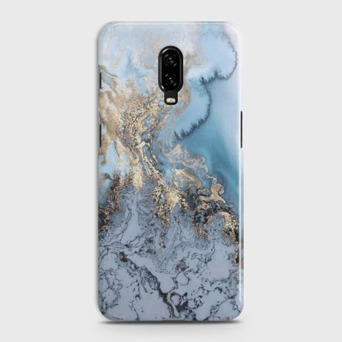 ONEPLUS 6T Golden Blue Marble Case