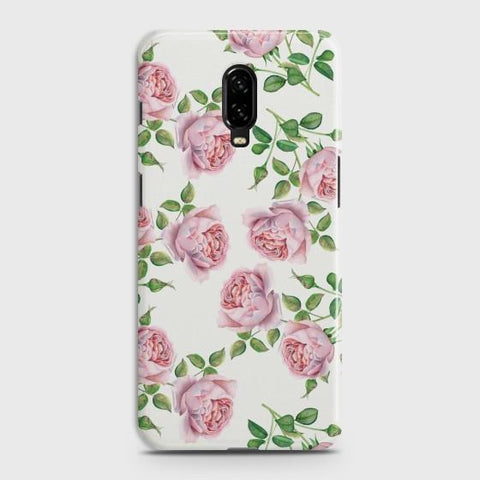 ONEPLUS 6T Pink Flower Pattren Case