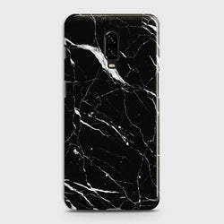 OnePlus 6T Trendy Black Marble design Case